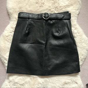 New Black H&M Faux Leather Skirt